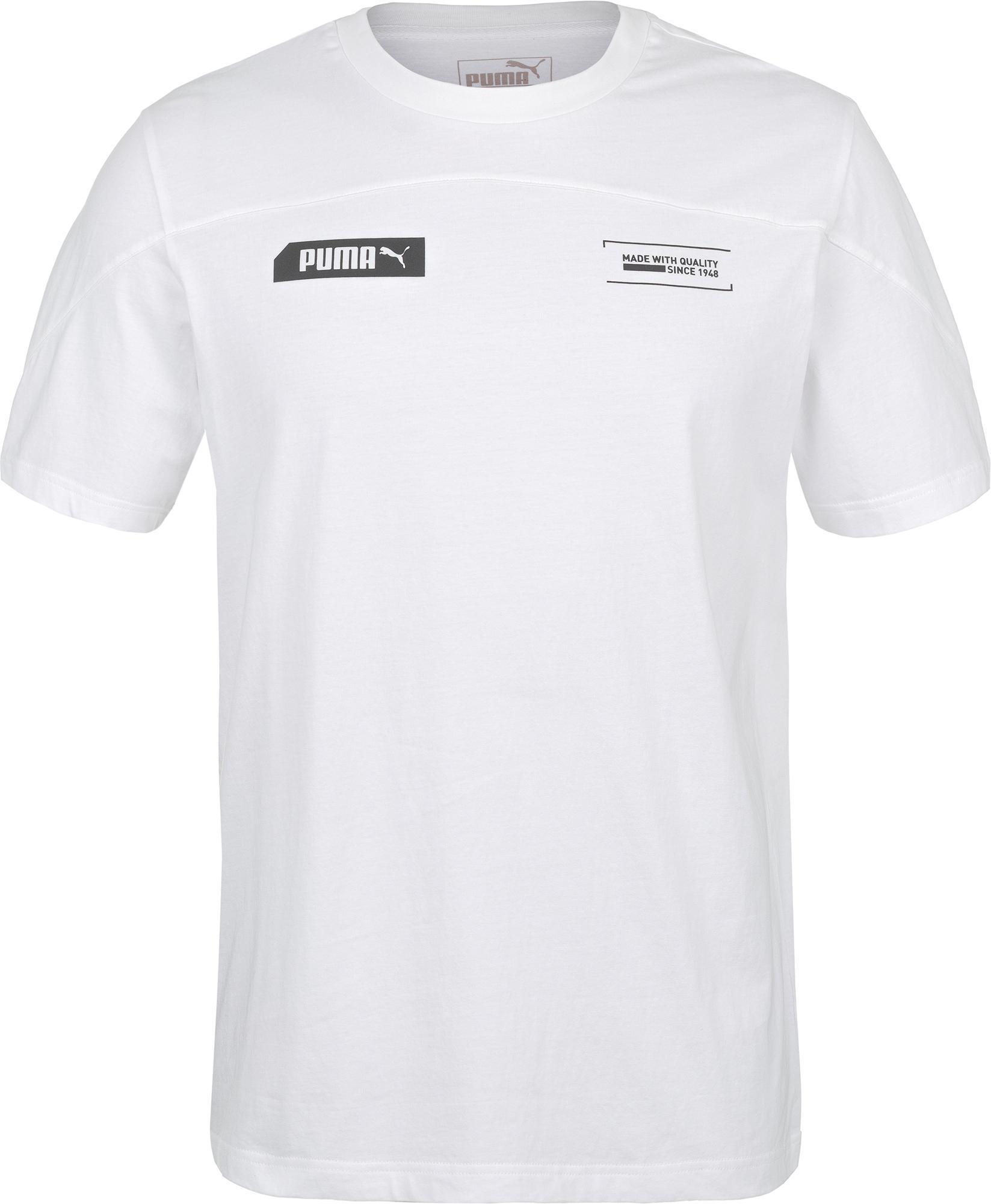 Puma Футболка мужская Puma NU-TILITY Tee, размер 48-50 футболка мужская reebok wor c graphic tee цвет серый ay2245 размер m 48 50