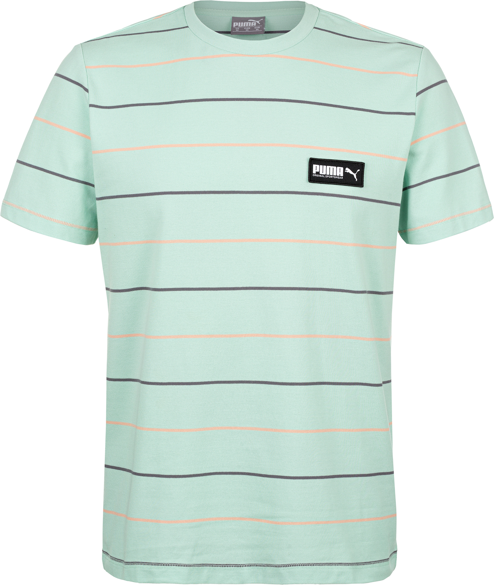 Puma Футболка мужская Puma FUSION Striped Tee, размер 48-50 slim striped fitted tee