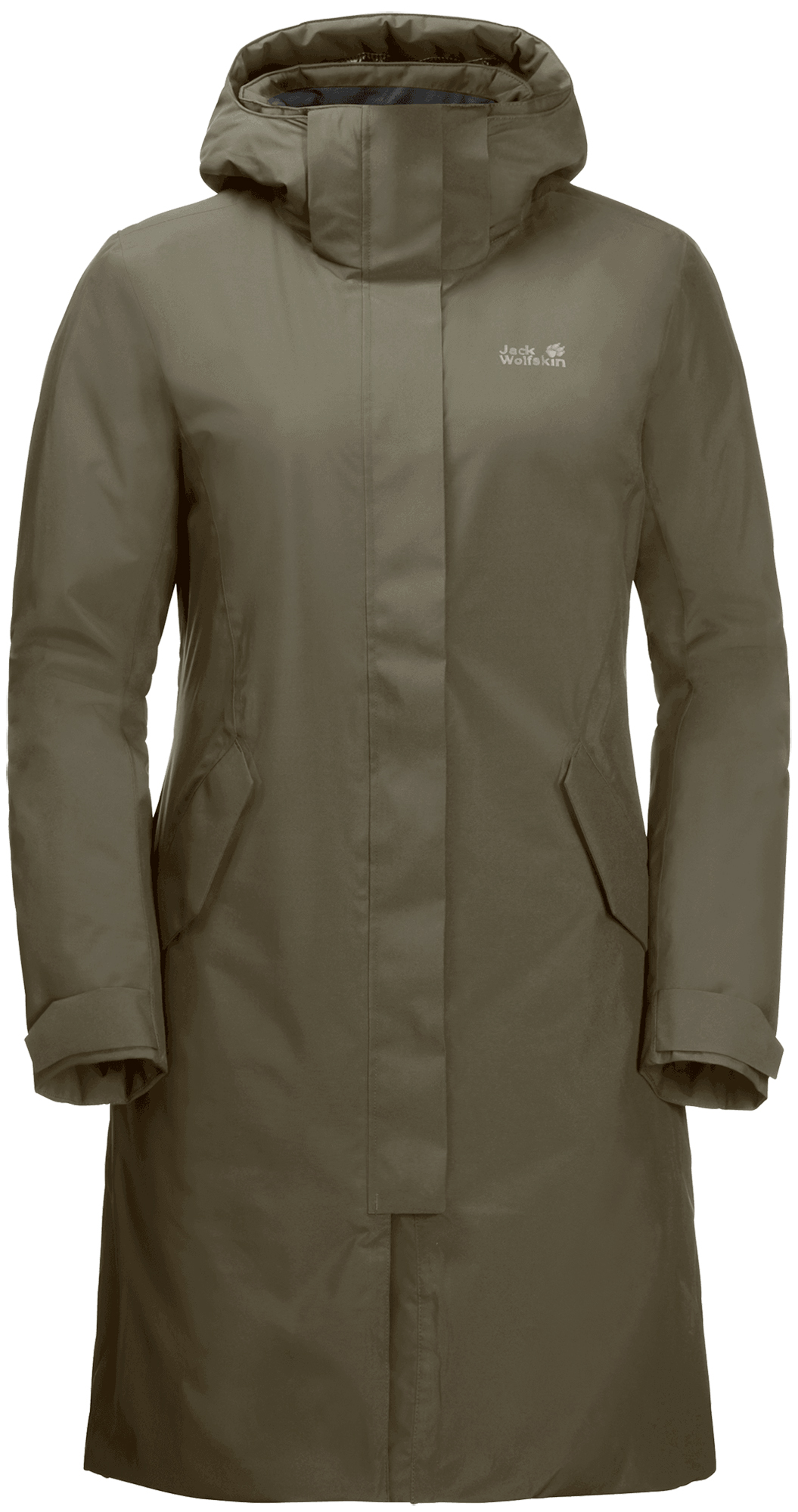 JACK WOLFSKIN Пальто пуховое женское Jack Wolfskin Cold Bay, размер 46-48