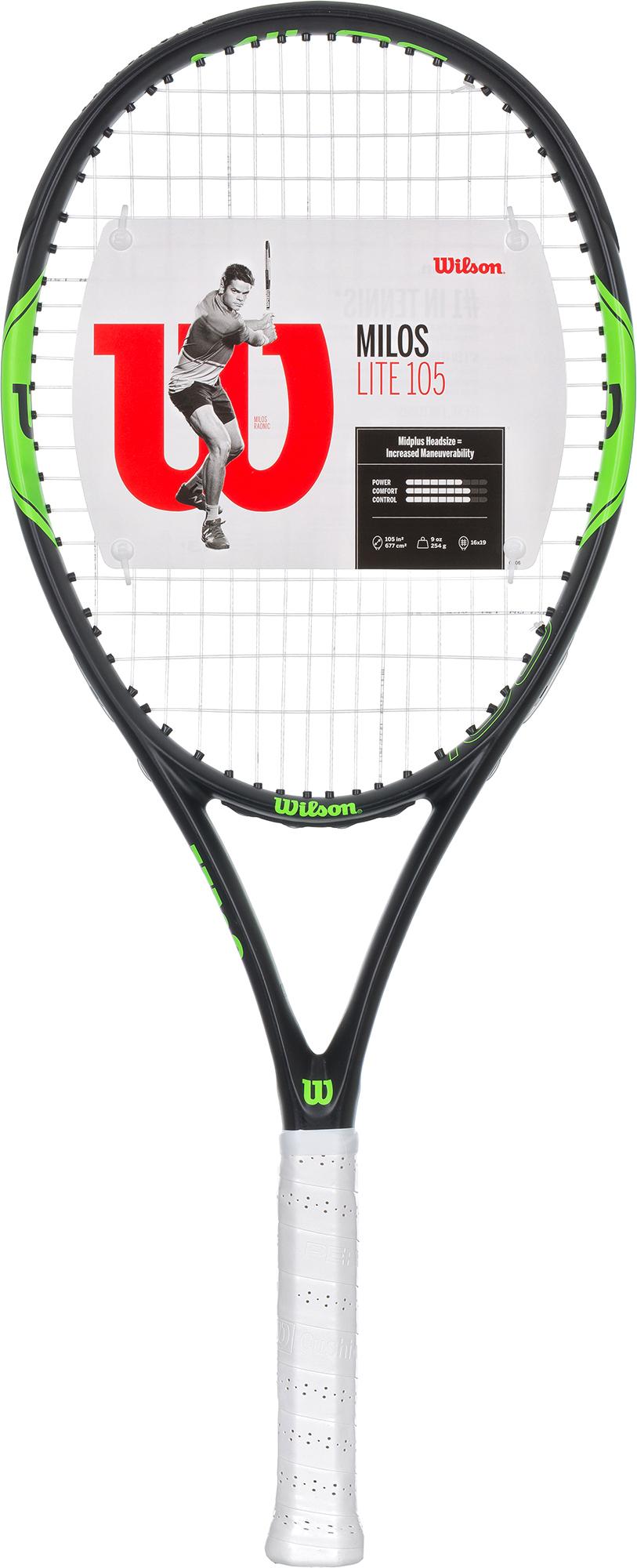 Wilson Ракетка для большого тенниса Wilson Milos Lite 105, размер 3 wilson ракетка для большого тенниса детская wilson roger federer 23 размер без размера