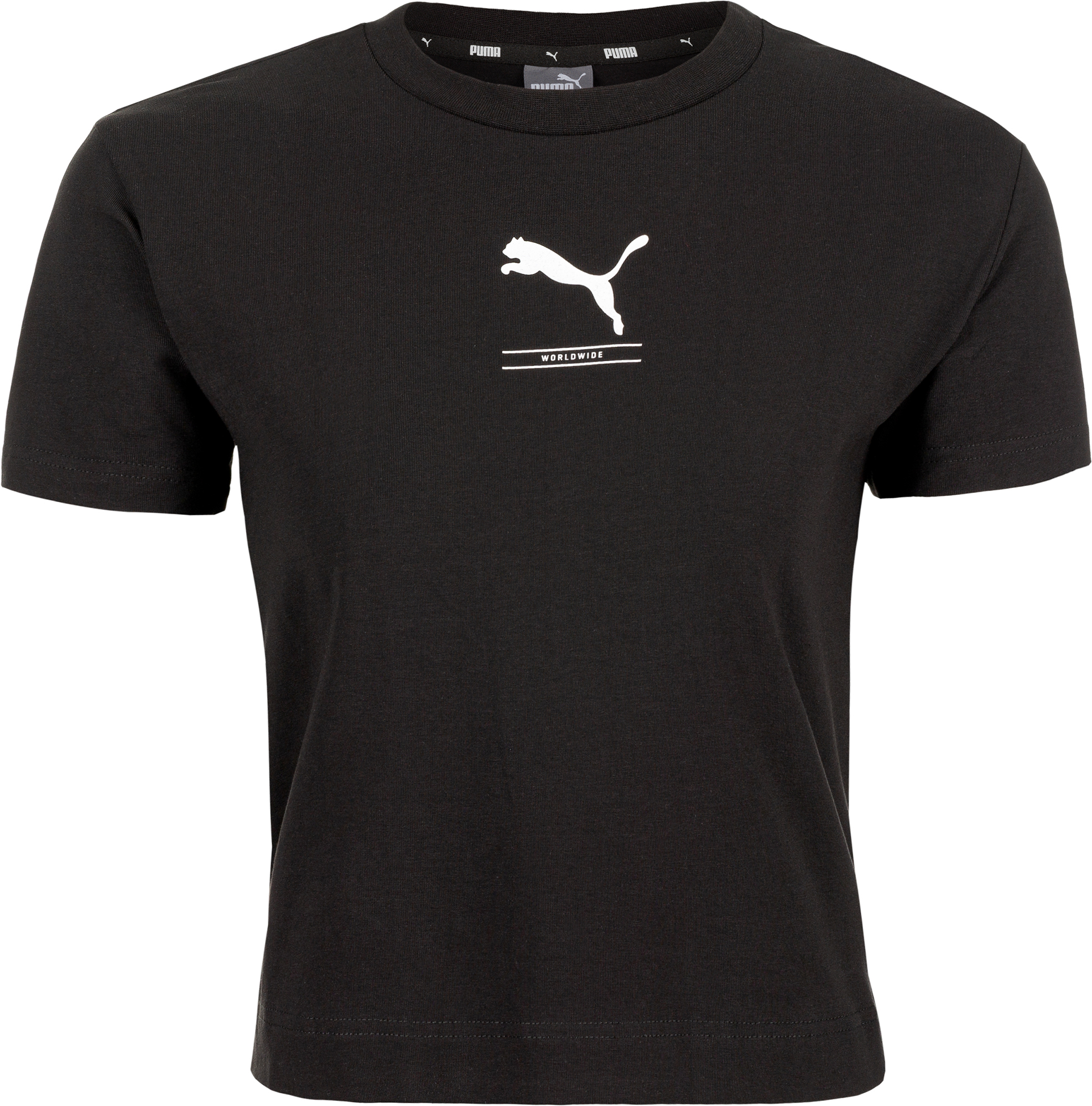 Puma Футболка женская Puma Nu-tility Fitted Tee, размер 44-46 slim striped fitted tee