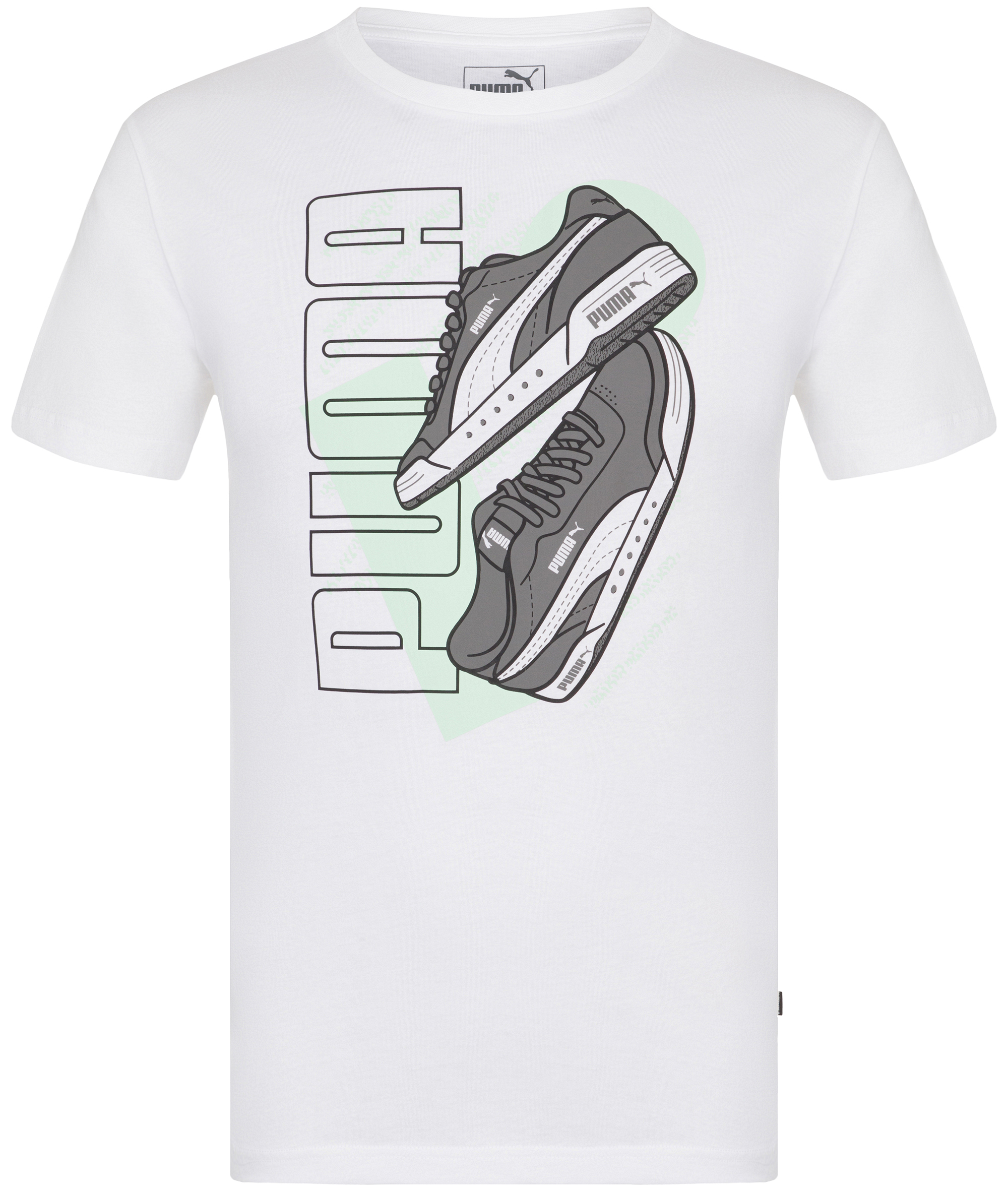 Puma Футболка мужская Puma Sneaker Graphic Tee, размер 48-50 футболка мужская reebok wor c graphic tee цвет серый ay2245 размер m 48 50