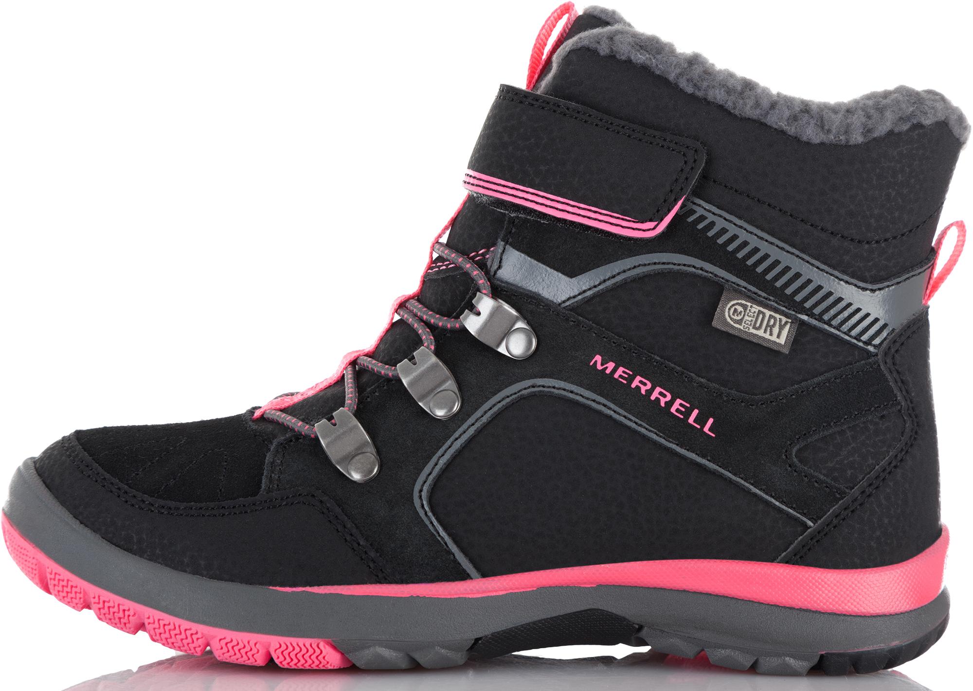 Merrell Ботинки утепленные для девочек Merrell M-Moab Fst Polar Mid A/C Wtrpf, размер 40,5