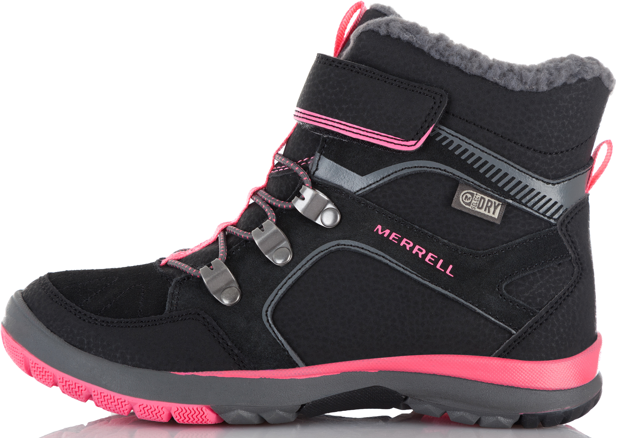 Merrell Ботинки утепленные для девочек M-Moab Fst Polar Mid A/C Wtrpf, размер 40,5