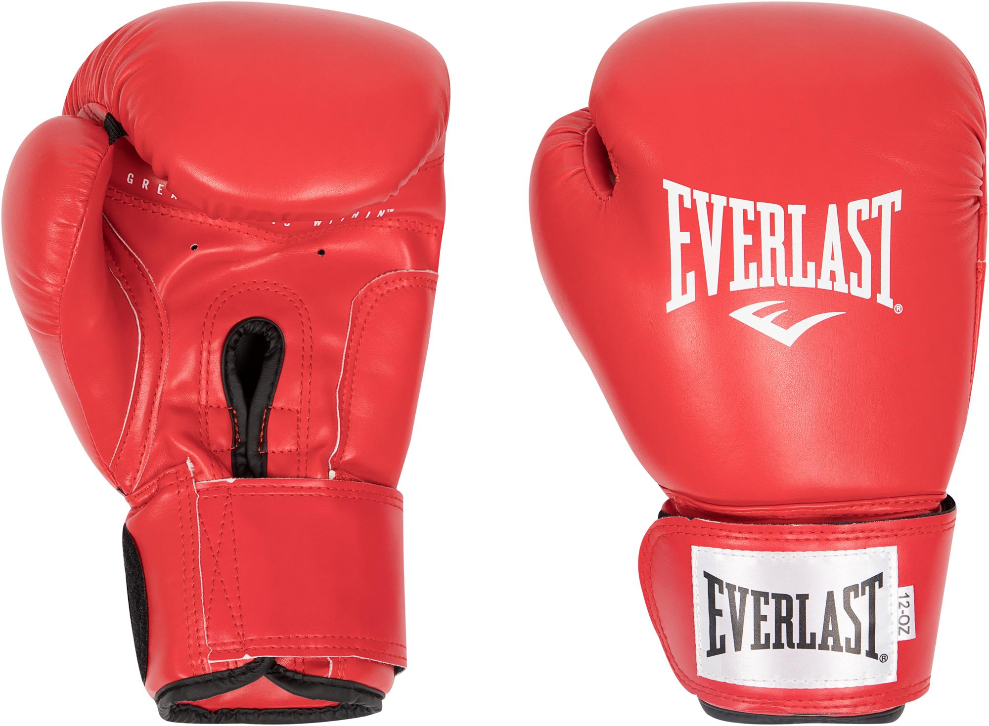 перчатки гелевые с бинтом everlast duster evergel цвет желтый длина бинта 150 см размер s m Everlast Перчатки боксерские Everlast Amateur Cometition PU, размер 12