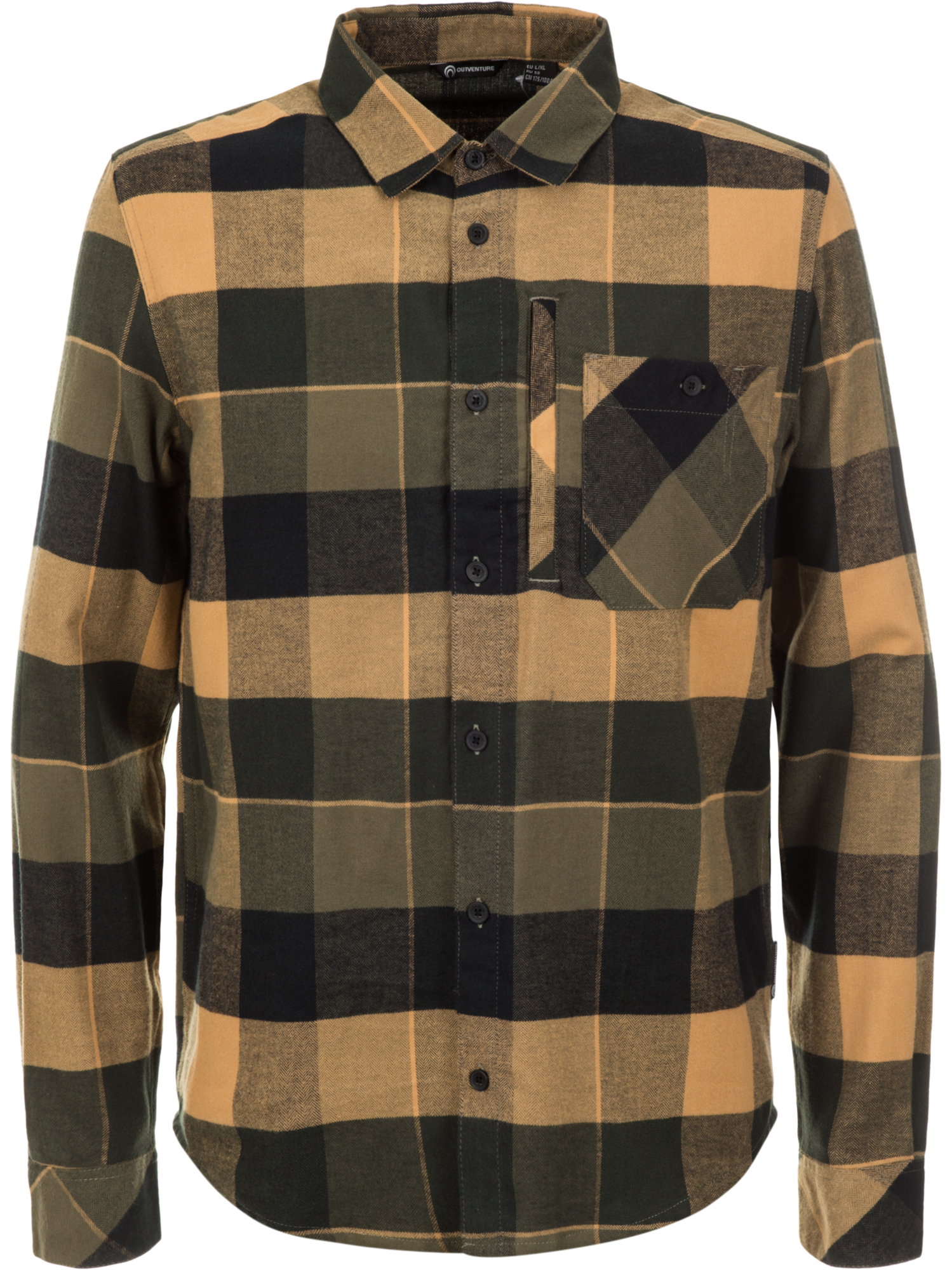 Outventure Рубашка с длинным рукавом мужская Outventure, размер 58