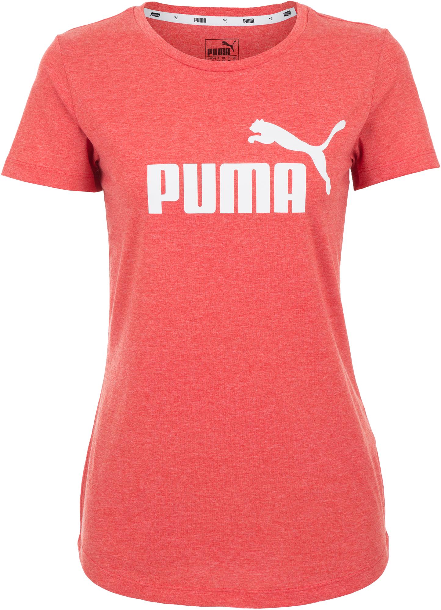 Puma Футболка женская Puma Ess+ Logo Heather, размер 48-50 футболка женская abba logo gold black размер s