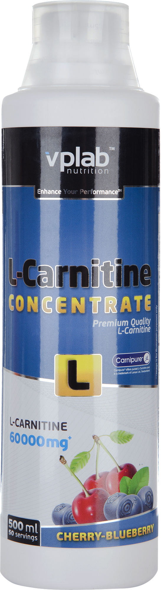 Vplab nutrition Л-карнитин nutrition, вишня и черника