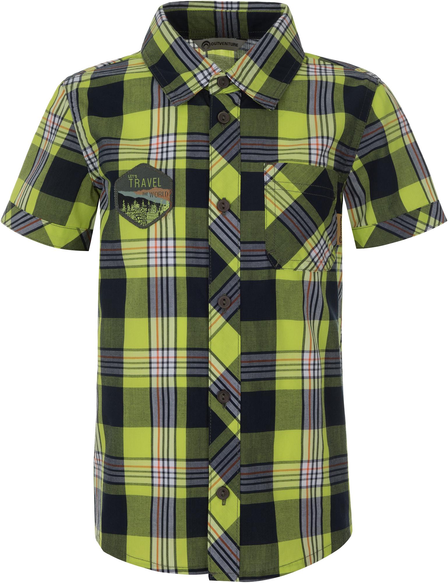 цена на Outventure Рубашка с коротким рукавом для мальчиков Outventure, размер 104