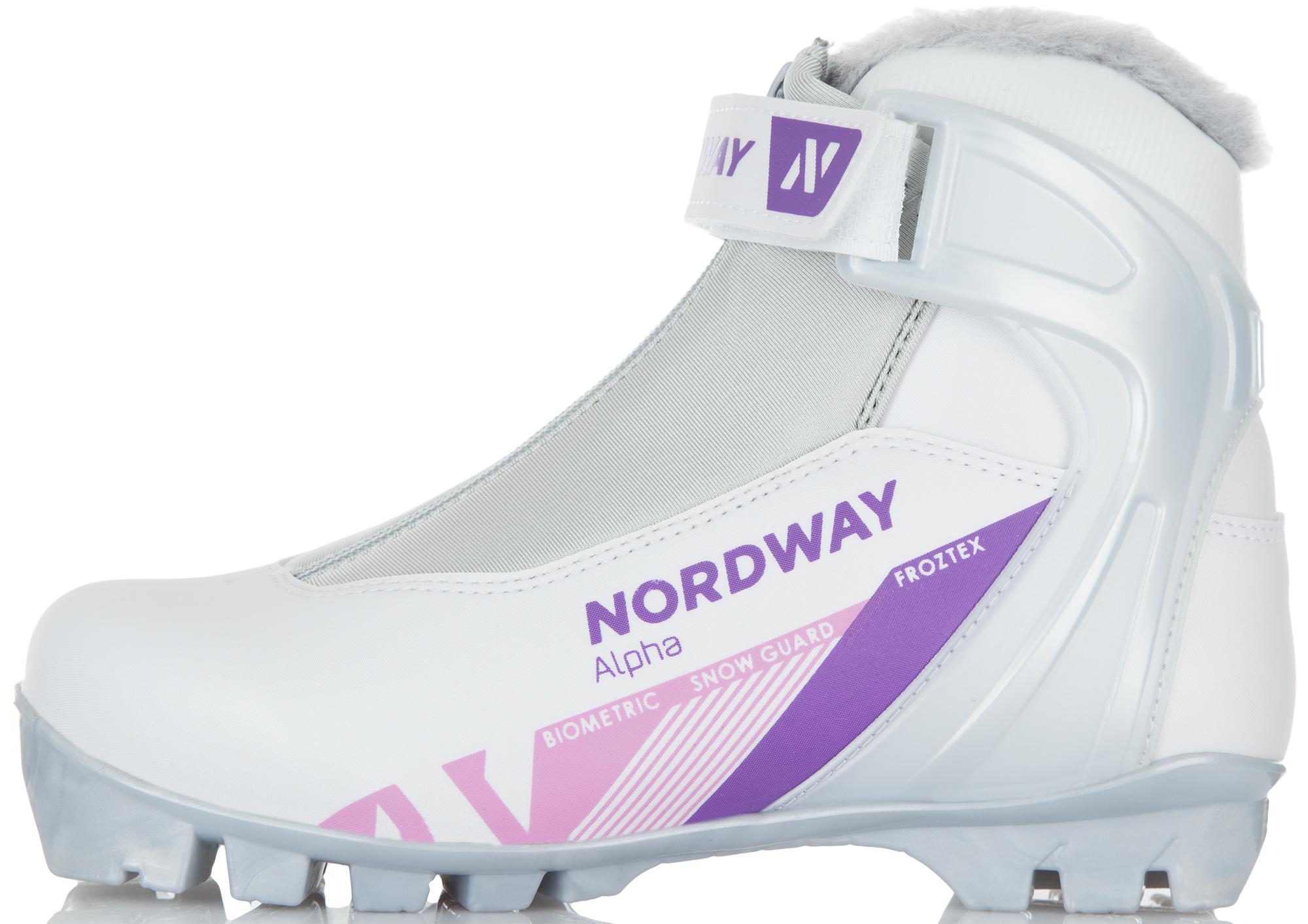 Nordway Ботинки для беговых лыж женские Nordway Alpha nordway крепления для лыж nordway nn 75