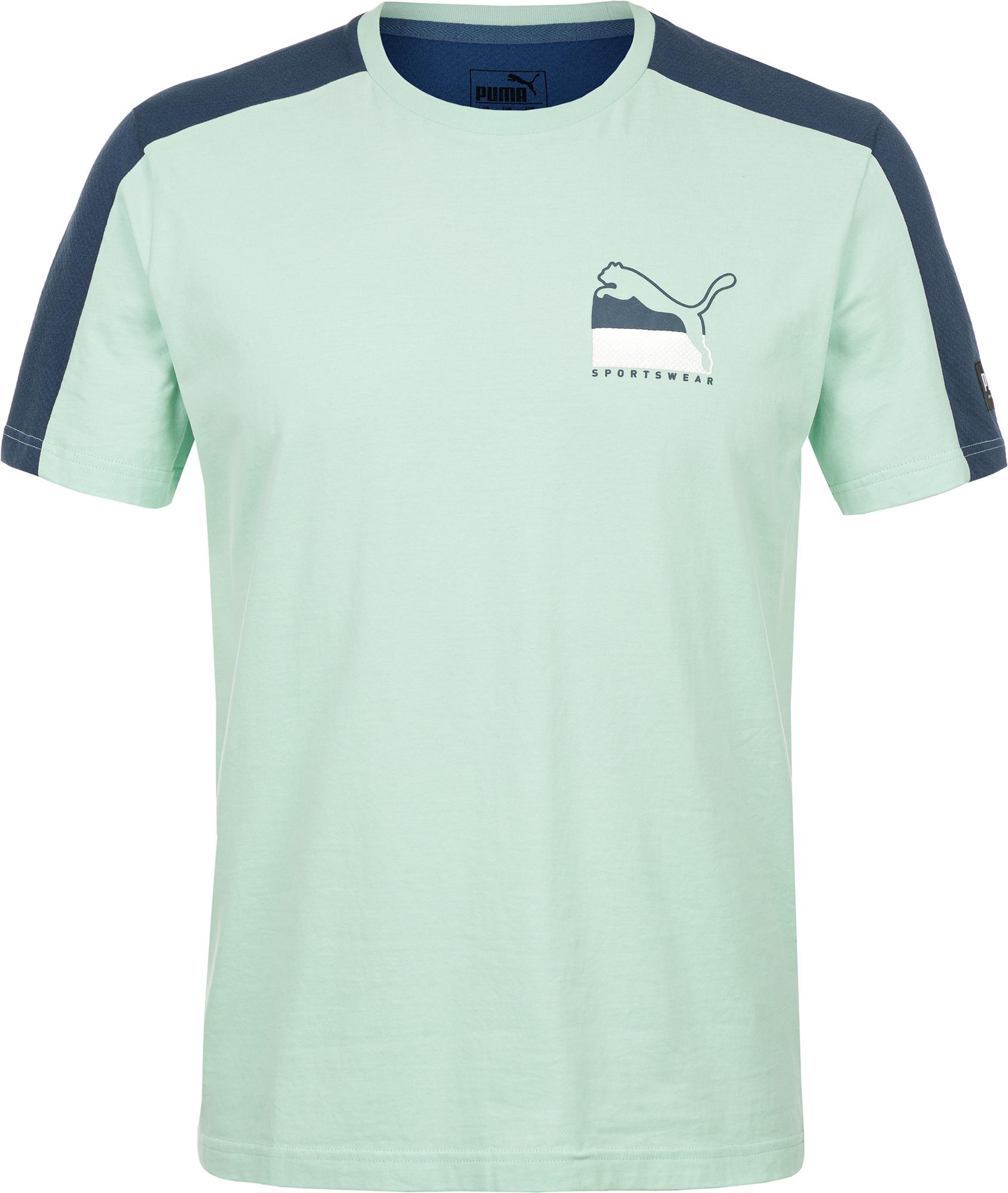 Puma Футболка мужская Puma ATHLETICS Advanced Tee, размер 46-48 puma футболка мужская puma aop split tee размер 48 50