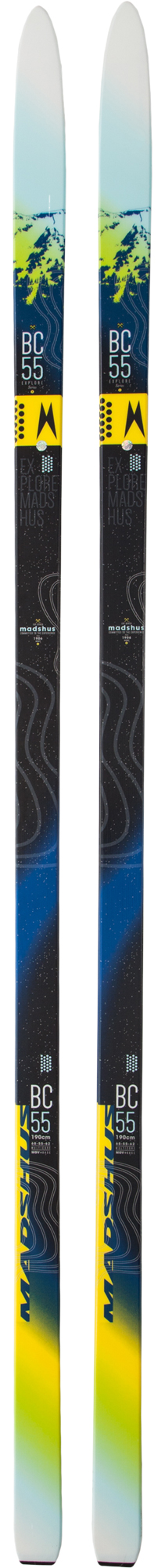 Madshus Беговые лыжи Madshus Bc 55 Mgv+ лыжи беговые tisa top universal с креплением цвет желтый белый черный рост 182 см