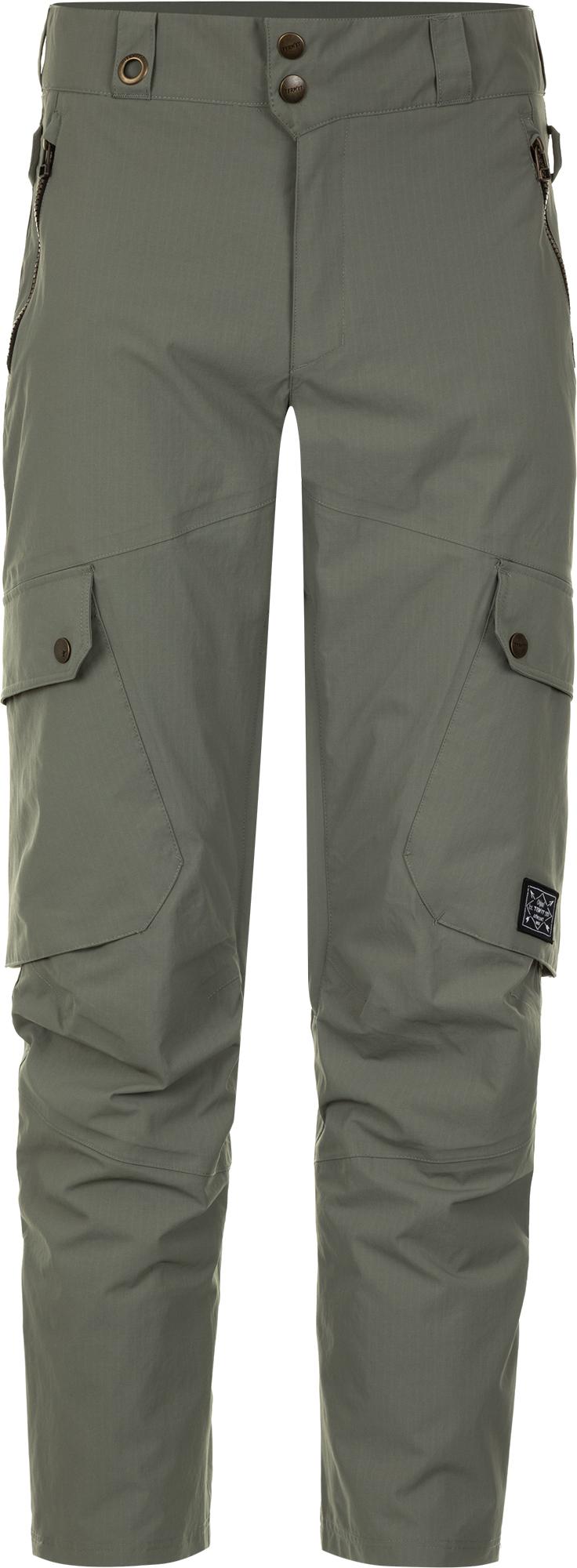 Termit Брюки утепленные мужские Termit, размер 54 брюки мужские sela цвет темно серый меланж pk 2415 012 8310 размер xxl 54
