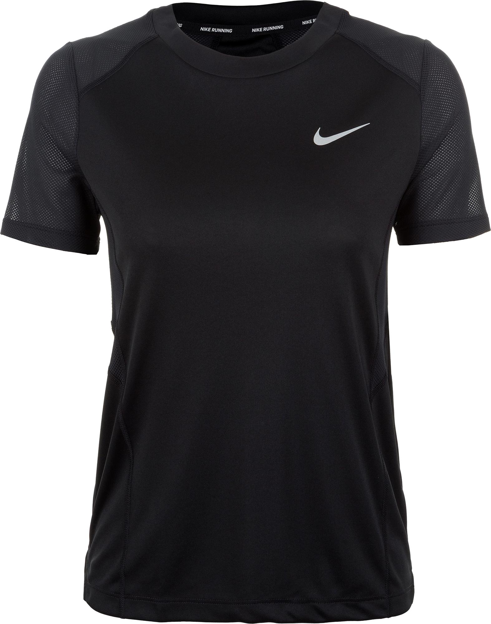 Nike Футболка женская Nike Miler, размер 48-50 футболка женская nike dry miler top ss nv2 цвет черный 890357 010 размер l 48 50