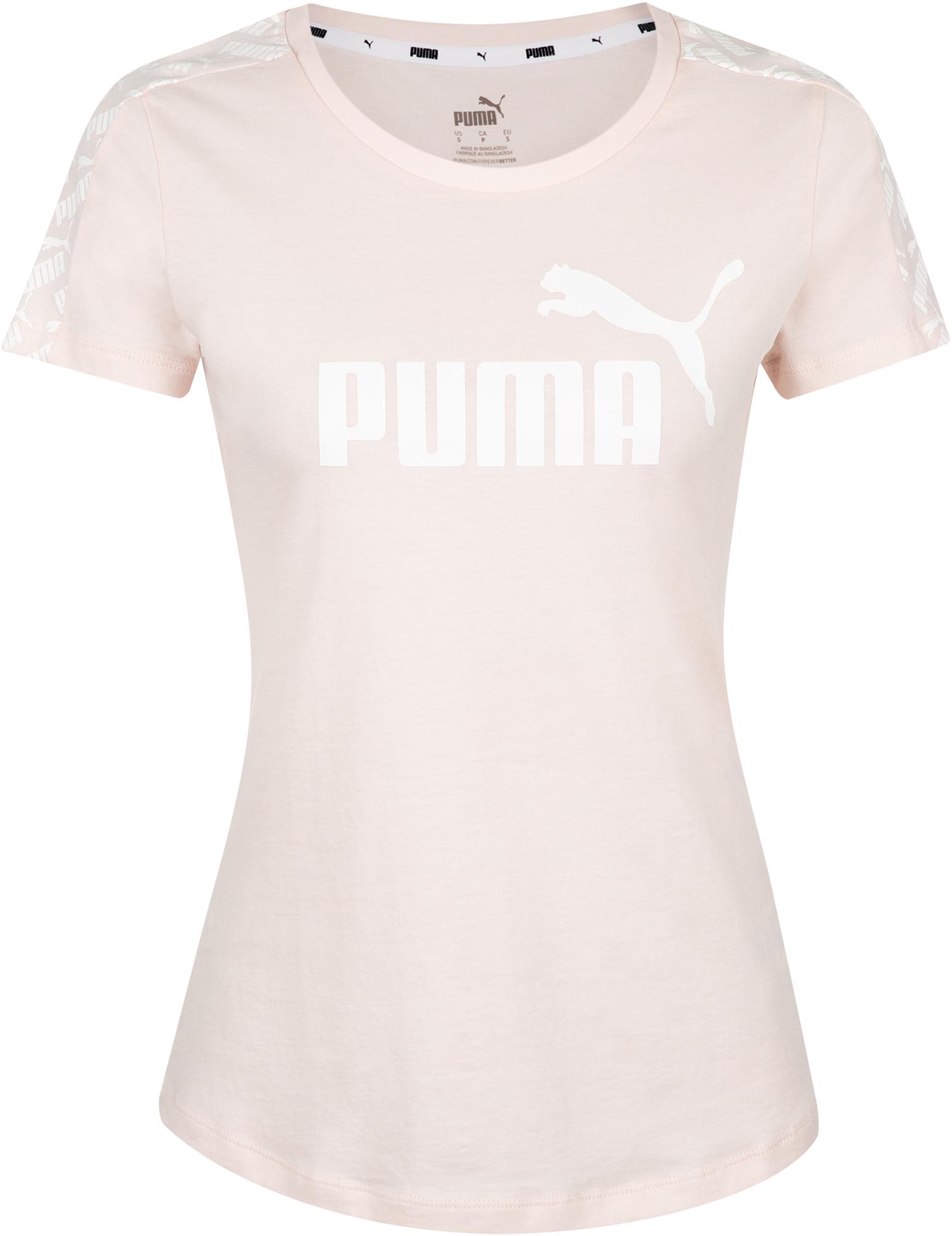 PUMA Футболка женская Puma Amplified Tee, размер 44-46 шапка женская puma archive wm fold beanie цвет серый 02133402 размер универсальный