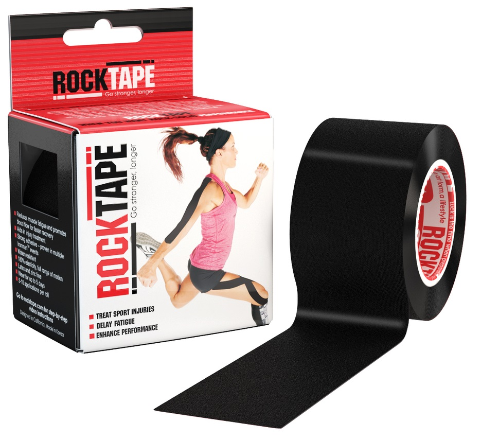 RockTape Кинезио-тейп 5 см х м, чёрный