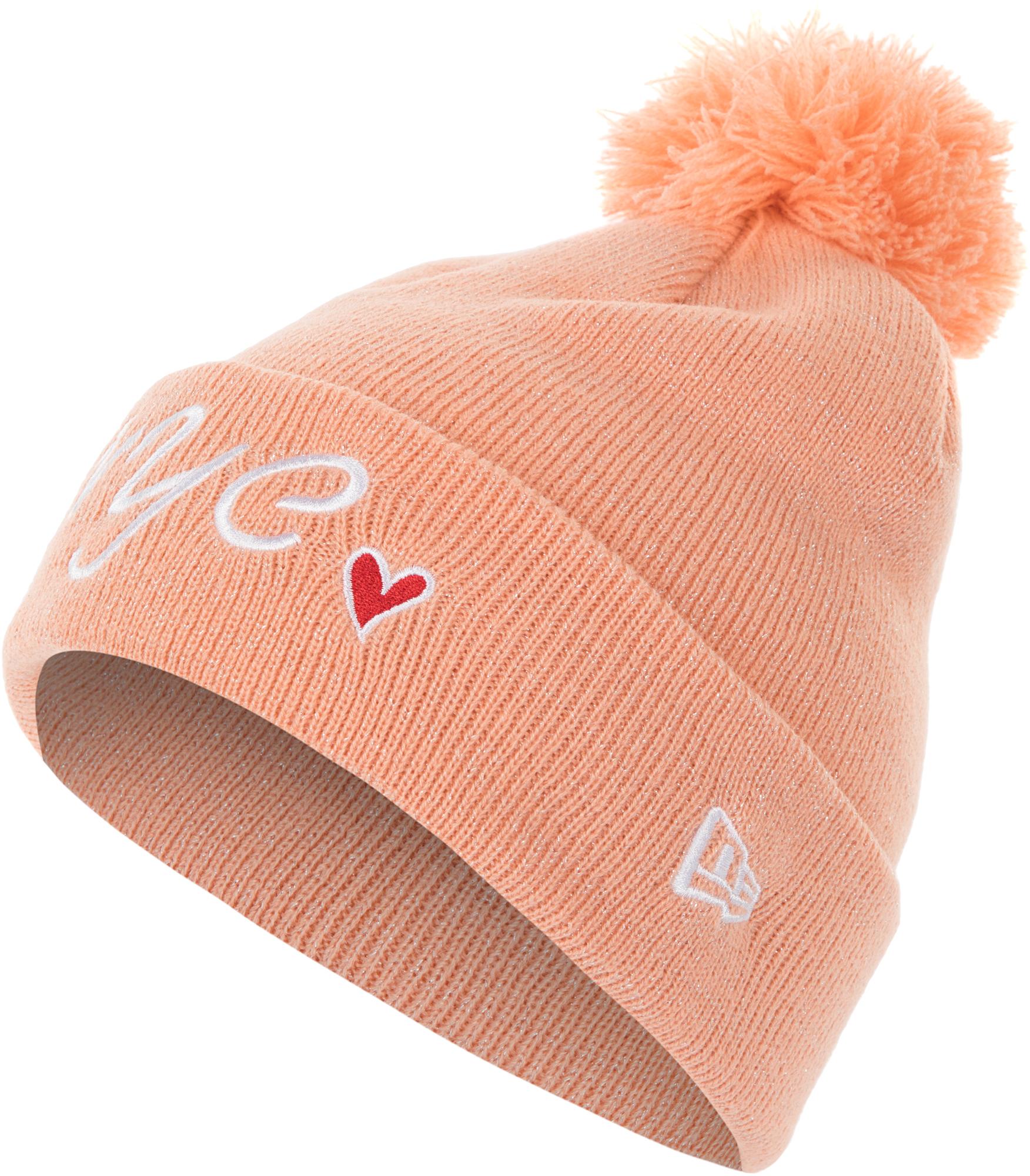 New Era Шапка для девочек New Era, размер 54-55 new era шапка для мальчиков new era ne cuff pom размер 54 55