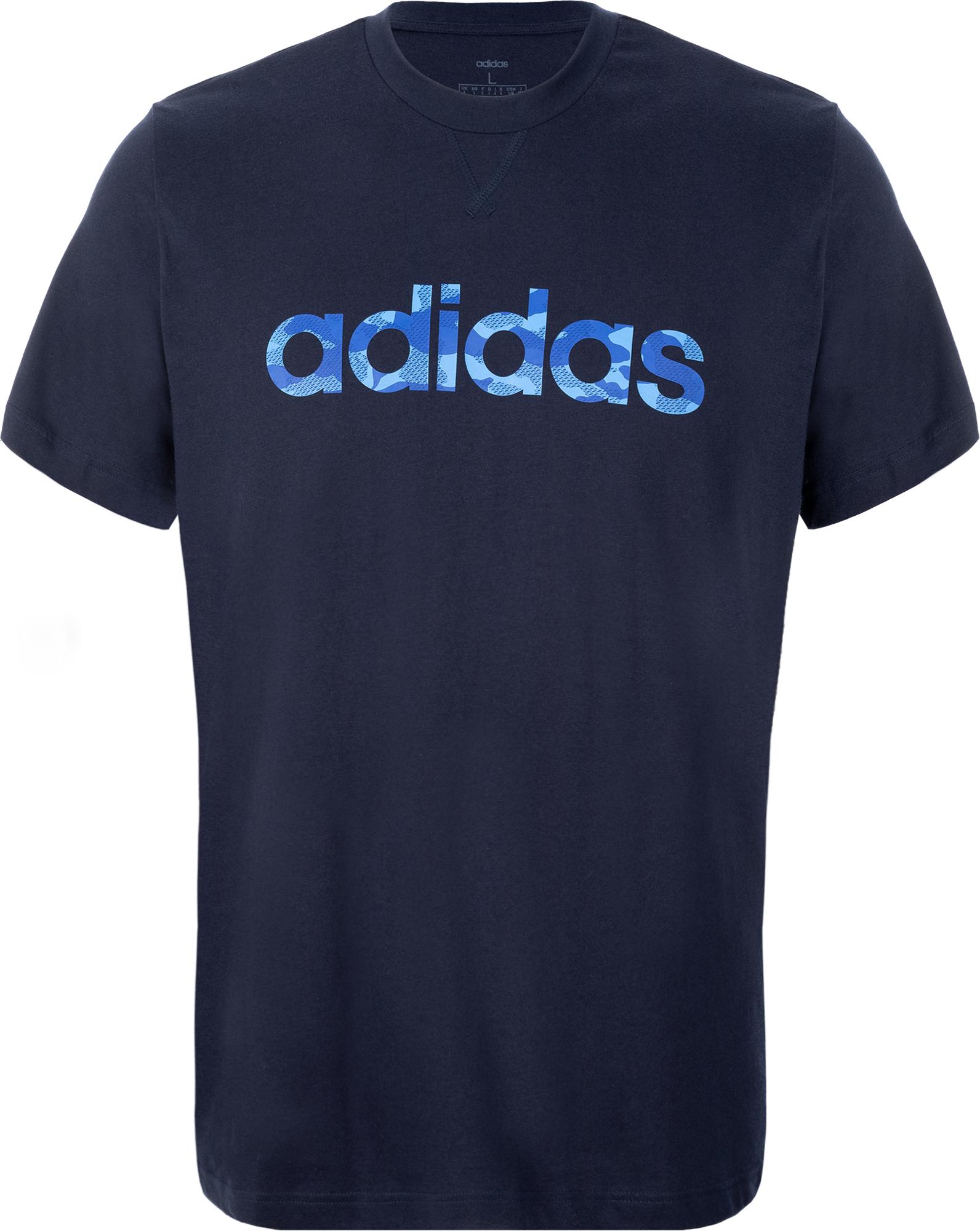 Adidas Футболка мужская Camo Linear, размер 52