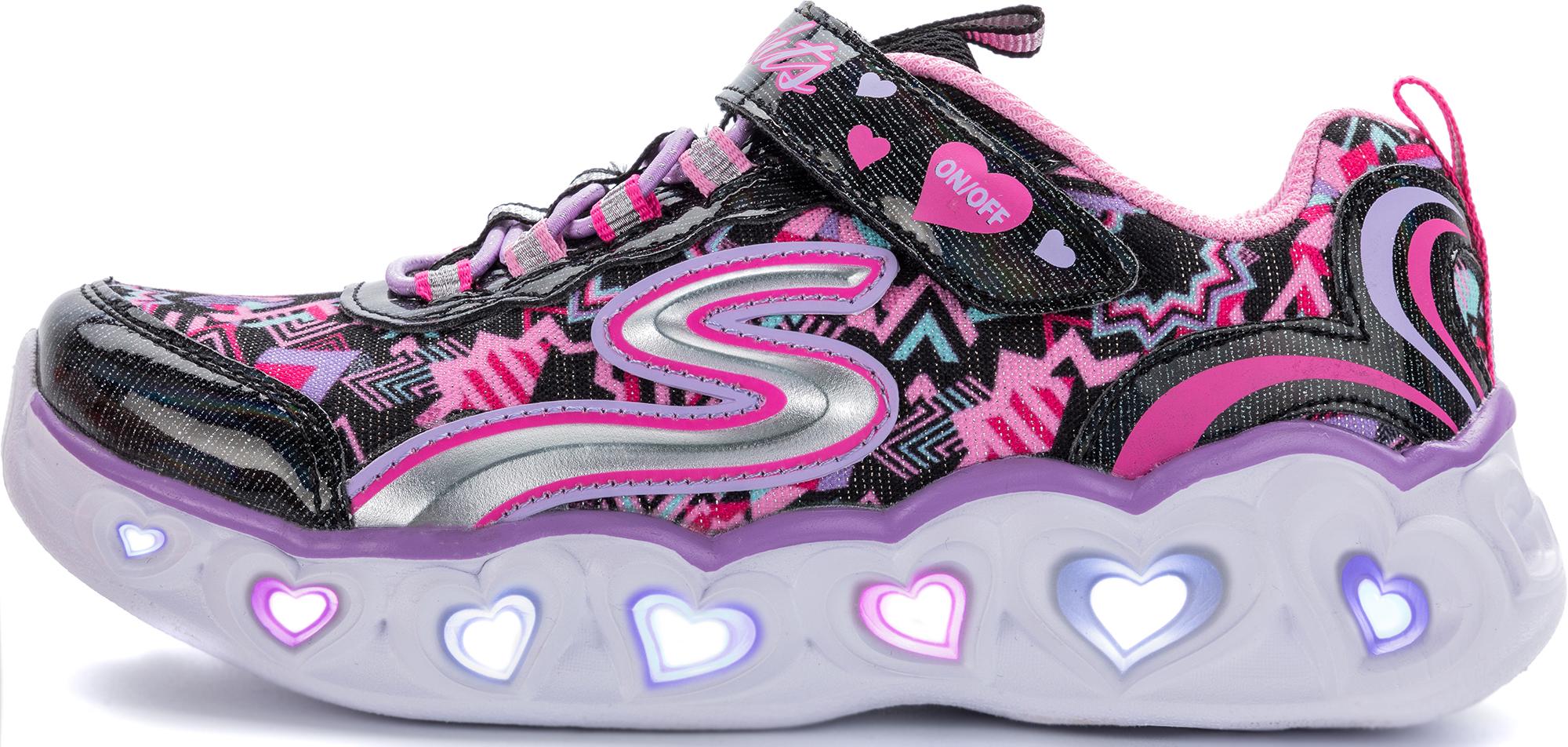 Skechers Кроссовки для девочек Skechers Heart Lights Love Lights, размер 34