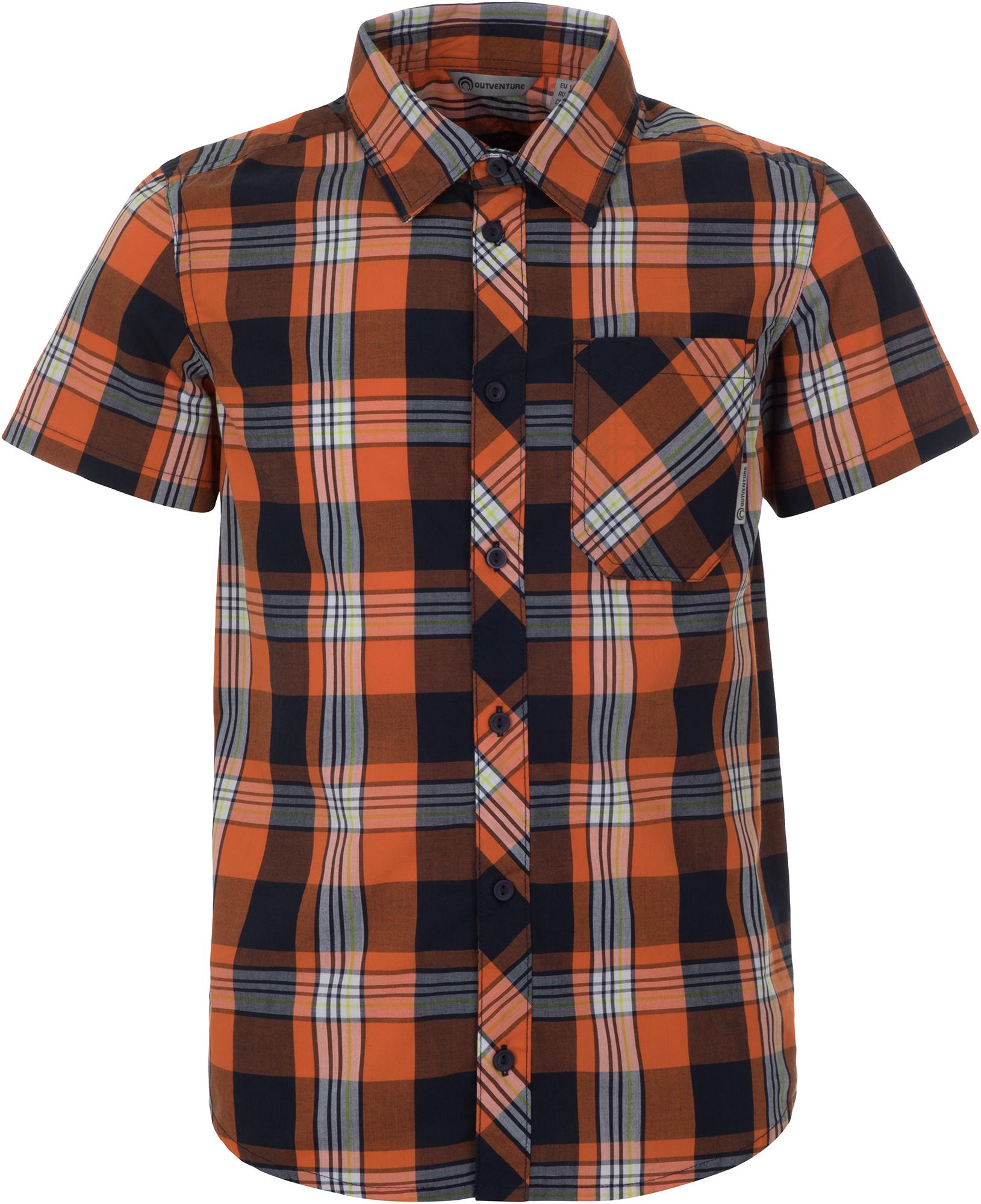 Outventure Рубашка с коротким рукавом для мальчиков Outventure, размер 170 мужская рубашка с коротким рукавом белый