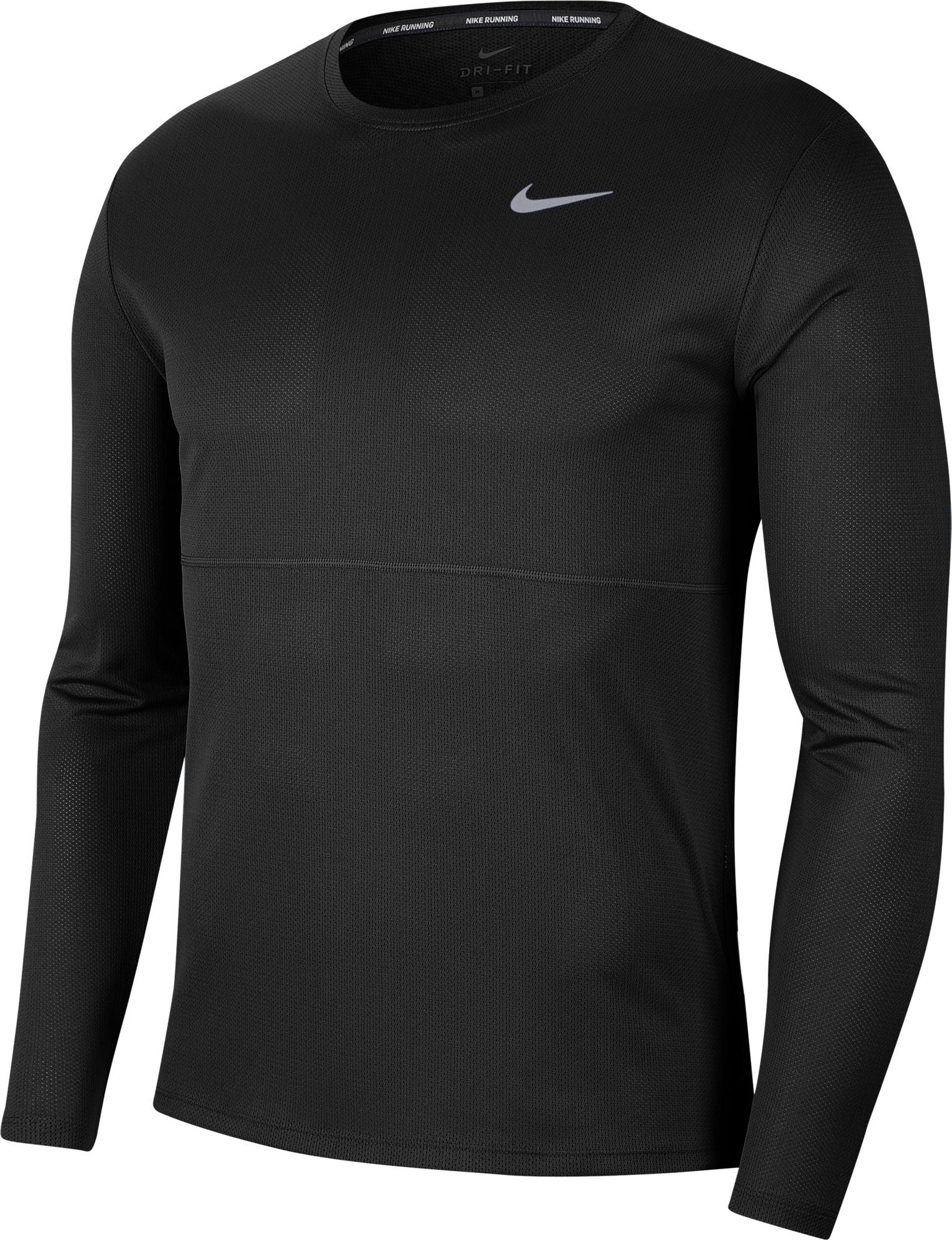 Nike Лонгслив мужской Nike Breathe Run, размер 54-56 лонгслив мужской dc shoes rebuilt цвет белый черный edyzt03505 wbb0 размер xxl 54