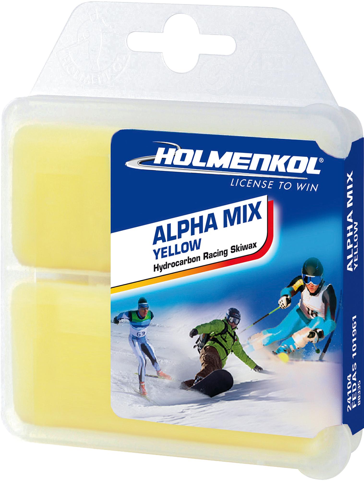 Holmenkol Мазь скольжения твердая для лыж и сноубордов HOLMENKOL Alpha Mix Yellow