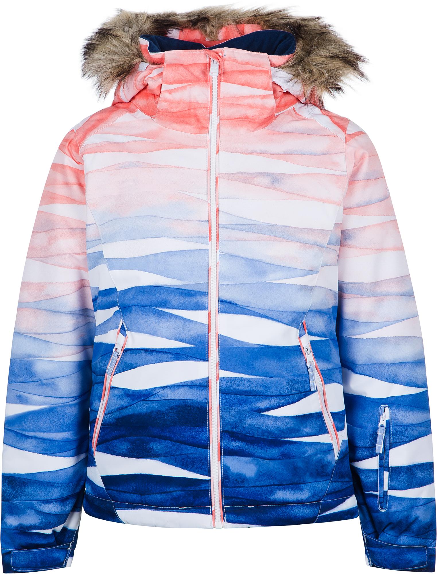 Roxy Куртка утепленная для девочек Roxy Jet Ski, размер 164-170 roxy куртка женская roxy jetty размер 46 48