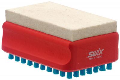 Комбинированная щетка Swix F4Инструменты<br>Комбинированная щетка для нанесения мазей и других продуктов серии f4. Толщина скребка - 0, 12 мм.