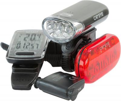 Комплект: велокомпьютер, фонарь Cat Eye GS-17-EL135NLD