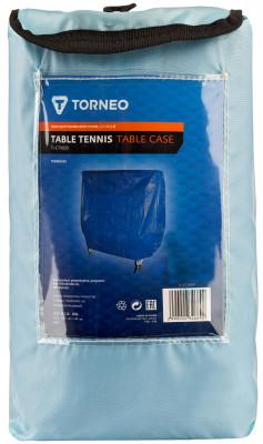 Чехол для теннисного стола TorneoЗащитный чехол для теннисных столов, выполненный из прочного синтетического материала. Защитит стол от влаги, пыли и грязи. Размеры: 155 x 45 x 140 см.<br>Вид спорта: Настольный теннис; Производитель: Torneo; Артикул производителя: TI-CT1000; Срок гарантии: 2 года; Страна производства: Китай; Размер RU: Без размера;