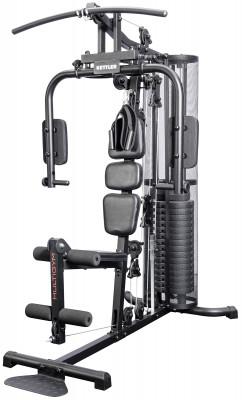 Силовой центр Kettler MultigymМногофункциональный силовой центр со встроенным закрытым весовым блоком.<br>Тренируемые группы мышц: Cпина, руки, грудь, плечи, ноги; Вес встроенного стека: 80 кг; Максимальный вес пользователя: 130 кг; Регулировки: Высота сиденья и вылет спинки, длина и наклон рычагов для бабочки; Зачехление весового стека: Стальная сетка; Размер в рабочем состоянии (дл. х шир. х выс), см: 170 х 109 х 200; Вес, кг: 153; Вид спорта: Силовые тренировки; Производитель: Kettler; Артикул производителя: 7752-850; Срок гарантии: 2 года; Страна производства: Китай; Размер RU: Без размера;