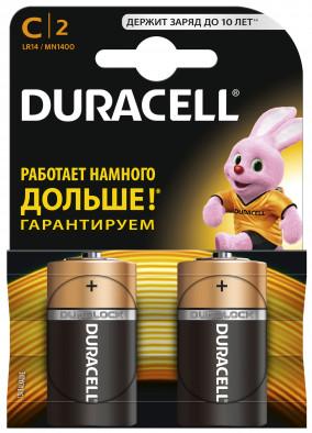 Батарейки щелочные Duracell Basic C/LR14, 2 шт.