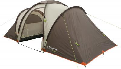 Outventure Twin Sky 4 Basic v2Четырехместная палатка станет отличным вариантом для выездов на природу и многодневного кемпинга.<br>Назначение: Кемпинговые; Количество мест: 4; Наличие внутренней палатки: Да; Тип каркаса: Внешний; Геометрия: Нестандартная; Водонепроницаемость: Высокая; Ветроустойчивость: Низкая; Вес, кг: 8,8; Размер в собранном виде (д х ш х в): 490 x 210 x 180 см; Размер в сложенном виде (дл. х шир. х выс), см: 60 х 22 х 22; Размер тамбура (д х ш х в): 200 х 210 х 180 см; Количество комнат: 2; Количество входов: 2; Вентиляционные окна: Да; Количество вентиляционных окон: 1; Диаметр дуг: 9,5 мм, 11 мм; Внешний тент: Да; Усиленные углы: Да; Количество оттяжек: 12; Крепление для фонаря: Да; Водонепроницаемость тента: 2000 мм в.ст.; Водонепроницаемость дна: 10 000 мм в.ст.; Проклеенные швы: Да; Материал тента: Полиэстер; Материал внутренней палатки: Полиэстер; Материал дна: Армированный полиэтилен; Материал каркаса: Фибергласс; Материал колышков: Сталь; Вид спорта: Кемпинг; Производитель: Outventure; Артикул производителя: EOUOT017T1; Срок гарантии: 2 года; Страна производства: Бангладеш; Размер RU: Без размера;