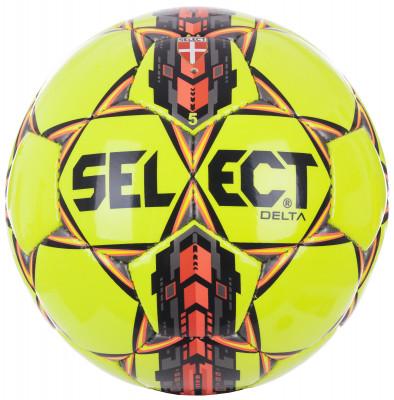Мяч футбольный Select DeltaФутбольный мяч для игры на газоне. Покрышка изготовлена из высококачественного термо-полиуретана. Мягкая поверхность. Ручная сшивка. Латексная камера.<br>Сезон: 2017/2018; Возраст: Взрослые; Вид спорта: Футбол; Тип поверхности: Универсальные; Назначение: Тренировочные; Материал покрышки: Синтетическая кожа; Материал камеры: Натуральный латекс; Способ соединения панелей: Ручная сшивка; Количество панелей: 32; Вес, кг: 0,43; Технологии: Zero-Wing bladder; Производитель: Select; Артикул производителя: 815017; Срок гарантии: 6 месяцев; Страна производства: Пакистан; Размер RU: 5;
