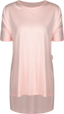 Футболка женская Kappa, размер 42Футболки<br>Лаконичная и вместе с тем оригинальная футболка от kappa завершит твой спортивный образ. Уникальный дизайн интересный силуэт привлекает внимание.