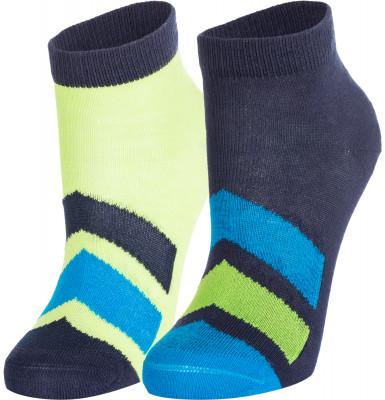 Носки для мальчиков Demix, 2 парыНоски спортивного стиля, изготовленные из сочетания качественных материалов, обеспечивают прекрасный воздухообмен и плотную посадку по ноге. В комплекте 2 пары.<br>Пол: Мужской; Возраст: Дети; Вид спорта: Спортивный стиль; Материалы: 73 % хлопок, 25 % полиамид, 2 % эластан; Производитель: Demix Basic; Артикул производителя: JBCZ02G2M; Страна производства: Россия; Размер RU: 27-30;