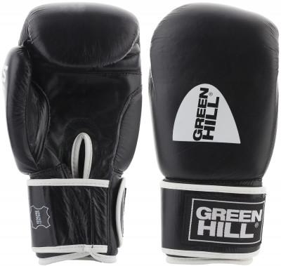 Перчатки боксерские Green Hill GymБоксерские перчатки green hill gym выполнены из натуральной кожи и высококачественного наполнителя из полиуретана.<br>Вес, кг: 10 oz; Тип фиксации: Липучка; Материал верха: Натуральная кожа; Материал наполнителя: Пенополиуретан; Вид спорта: Бокс; Производитель: Green Hill; Артикул производителя: BGG-2018; Срок гарантии: 3 месяца; Страна производства: Пакистан; Размер RU: 10 oz;