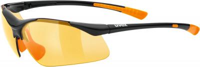 Солнцезащитные очки UvexЛаконичные солнечные очки от uvex надежно защищают глаза от яркого света, ветра и брызг.<br>Цвет линз: Оранжевый; Назначение: Активный отдых; Пол: Мужской; Возраст: Взрослые; Вид спорта: Активный отдых; Ультрафиолетовый фильтр: Да; Материал линз: Поликарбонат; Оправа: Пластик; Технологии: 100% UVA- UVB- UVC-PROTECTION; Производитель: Uvex; Артикул производителя: S5309822212; Срок гарантии: 1 месяц; Страна производства: Китай; Размер RU: Без размера;