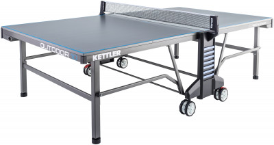 Теннисный стол всепогодный Kettler Outdoor 10Всепогодный теннисный стол от kettler. Удобство пользования встроенная сетка регулируется по высоте и натяжению.<br>Размер в рабочем состоянии (дл. х шир. х выс), см: 274 х 152,5 х 76; Размер в сложенном виде (дл. х шир. х выс), см: 68 х 183 х 165; Вес, кг: 80; Складная конструкция: Есть; Блокиратор в механизме складывания: Есть; Регулировка высоты стола: Есть; Держатель мячей и ракеток: Есть; Труба: Квадратная; Диаметр трубы: 50 х 50 мм; Материал каркаса: Сталь; Толщина игровой плиты, мм: 22; Позиция Playback: Есть; Антибликовое покрытие: Есть; Защитная окантовка плиты: 45 мм; Игровая поверхность: Уникальная всепогодная игровая плита ALU-TEC; Транспортировочные ролики: Есть; Блокиратор колес: Есть; Диаметр колес: 14 см; Материал колес: Резина; Сетка в комплекте: Есть; Регулировка высоты сетки: Есть; Вид спорта: Настольный теннис; Производитель: Heinz-Kettler GmbH &amp; CO.KG; Артикул производителя: 7178-900; Срок гарантии: 3 года; Страна производства: Германия; Размер RU: Без размера;