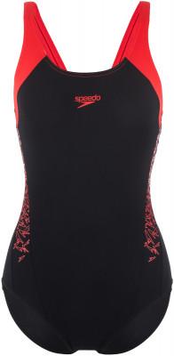 Купальник женский Speedo Boom Splice Muscleback, размер 44-46Купальники <br>Женский купальник для занятий в бассейне от speedo.