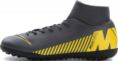 Бутсы мужские Nike Mercurial Superfly 6 Club TF, размер 43,5Бутсы<br>Футбольные бутсы для игры на искусственном газоне от nike обеспечивают превосходное касание мяча и удобную посадку, помогая набирать скорость и маневрировать на поле.