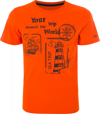 Футболка для мальчиков Outventure, размер 152Футболки и майки<br>Детская футболка outventure прекрасно подойдет для прогулок и путешествий.