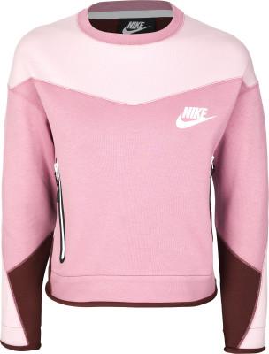 Джемпер женский Nike Sportswear Tech, размер 40-42Джемперы<br>Легкий и комфортный свитшот nike sportswear tech fleece, выполненный в классическом узнаваемом стиле ветровок windrunner.