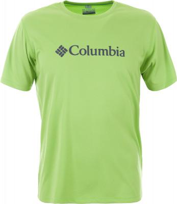 Футболка мужская Columbia Zero Rules Short Sleeve GraphicВысокотехнологичная футболка от columbia - незаменимая вещь для походов.<br>Пол: Мужской; Возраст: Взрослые; Вид спорта: Походы; Длина по спинке: 73 см; Защита от УФ: Да; Покрой: Прямой; Плоские швы: Нет; Светоотражающие элементы: Нет; Дополнительная вентиляция: Нет; Технологии: Omni-Freeze Zero, Omni-Shade, Omni-Wick; Производитель: Columbia; Артикул производителя: 1533291351XL; Страна производства: Шри-Ланка; Материалы: 100 % полиэстер; Размер RU: 52-54;