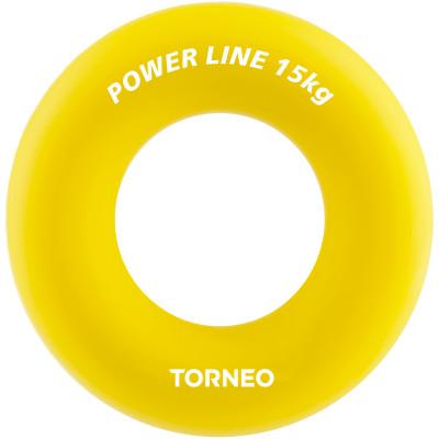 Эспандер кистевой Torneo, 15 кгЭспандеры<br>Предназначен для укрепления мышц кисти руки. Поможет разогреться перед тренировкой. Диаметр - 8, 8 см, сопротивление 15 кг.
