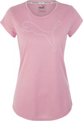 Футболка женская Puma Active Logo Heather Tee, размер 44-46Футболки<br>Удобная футболка в спортивном стиле от puma. Дополнительная вентиляция сетчатая спинка улучшает воздухообмен.