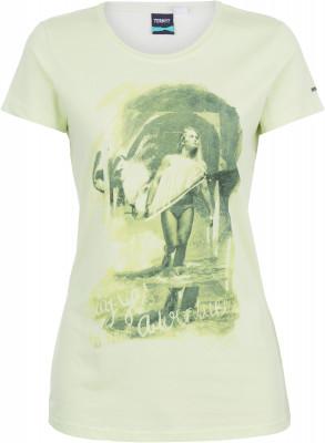 Футболка женская TermitЖенская футболка termit с интересным принтом, которая подойдет для пляжного отдыха. Свобода движений удобный продуманный крой обеспечивает свободу движений.<br>Пол: Женский; Возраст: Взрослые; Вид спорта: Surf style; Материалы: 60 % хлопок, 40 % полиэстер; Производитель: Termit; Артикул производителя: S17AT0O1XS; Страна производства: Бангладеш; Размер RU: 42;