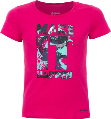 Футболка для девочек Demix, размер 164Футболки и майки<br>Отличное завершение образа в спортивном стиле - оригинальная футболка от demix. Натуральные материалы ткань из натурального хлопка приятна на ощупь.