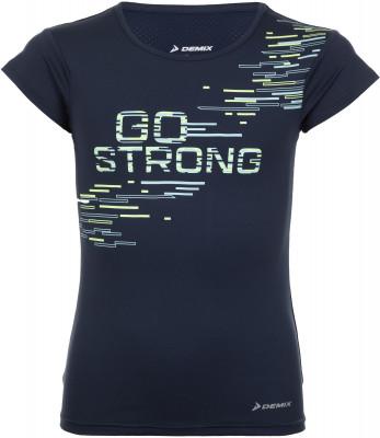 Футболка для девочек Demix, размер 158Футболки и майки<br>Отличный вариант для занятий бегом - влагоотводящая футболка для девочек от demix. Отведение влаги ткань с технологией movi-tex обеспечивает эффективный влагоотвод.