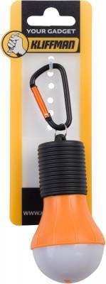 Брелок KLIFFMAN Фонарик-лампочкаБрелоки<br>Оригинальный брелок-фонарик от kliffman. Выполнен из пластика в форме лампочки со светодиодом. Модель станет незаменимой вещью в походах.